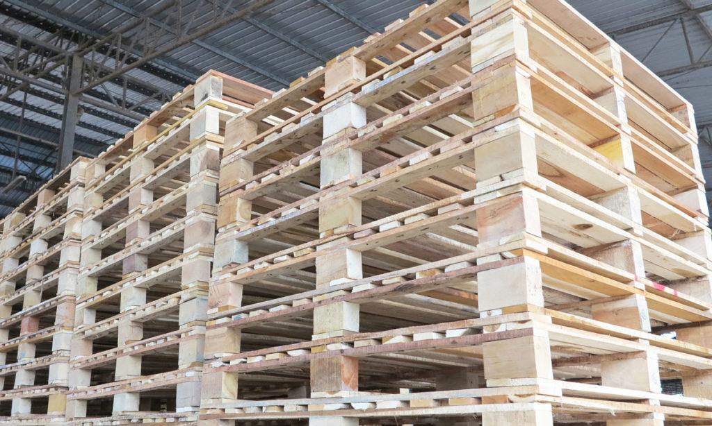 โรงงานไม้ยางพารา - พาเลทไม้